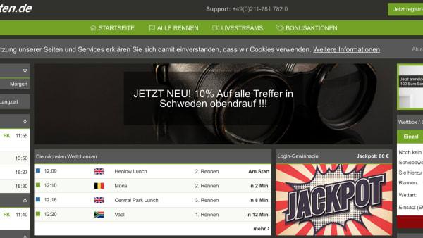 Foto: Skärmdump pferdewetten.de.