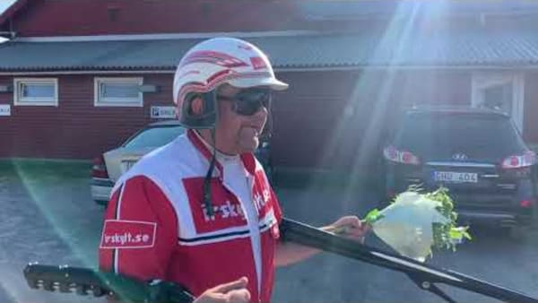 Claes Eskilsson efter segern med Mio Flash